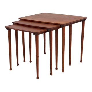 Vintage Danish Teak Nesting Tables - Set of 3 For Sale