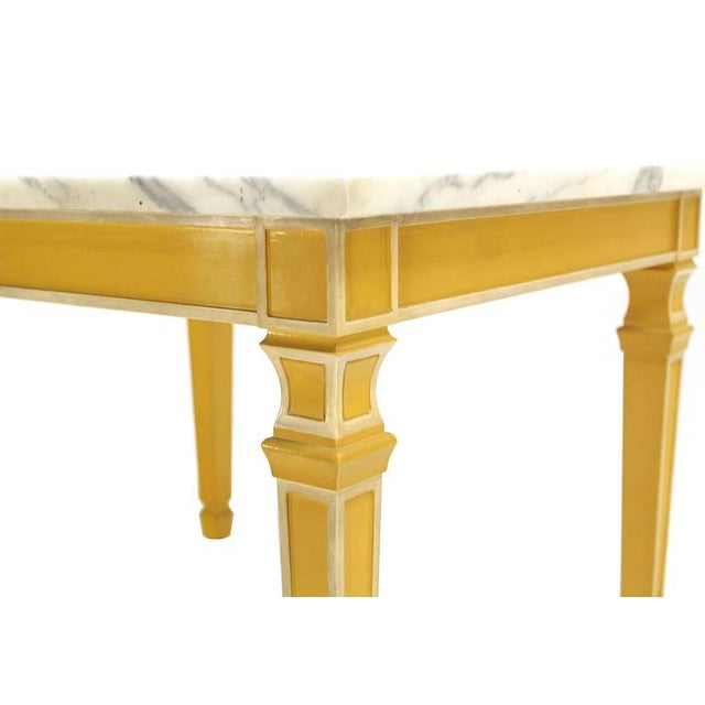 Eight Legged Marble-Top Long Rectangular Coffee Display Table For Sale - Image 4 of 7