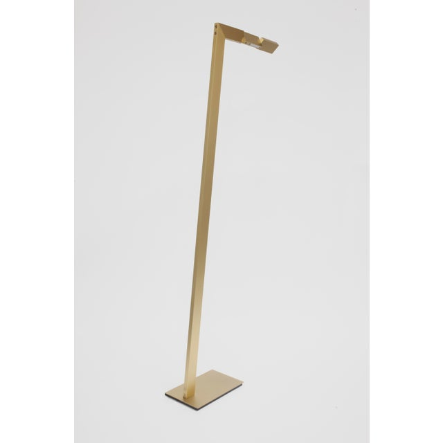 Contemporary Modern Contemporary 001 Floor Lamp in Brass by Orphan Work For Sale - Image 3 of 3