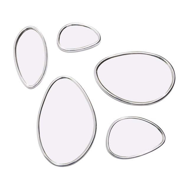 Pebbles Organic Mirrors with Adjustable Design - Set of 5 - Image 1 of 3