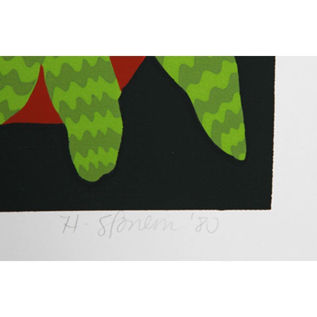 Artist: Hunt Slonem, American (1951 - ) Title: Brussel Sprouts Year: Circa 1980 Medium: Serigraph, signed and numbered in...