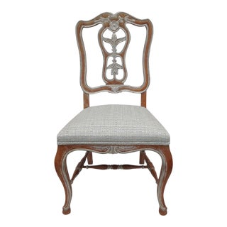 Antique French Parcel Gilt Accent Chair For Sale