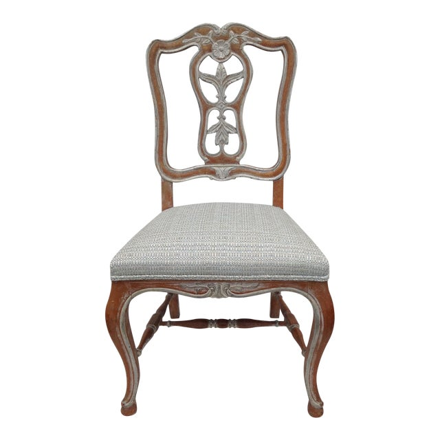 Antique French Parcel Gilt Accent Chair - Image 1 of 11