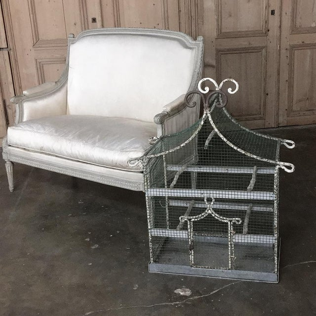 Metal 19th Century French Painted Wire Pagoda Birdcage For Sale - Image 7 of 13