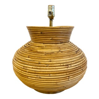 Gabriella Crespi Style Pencil Reed Table Lamp For Sale