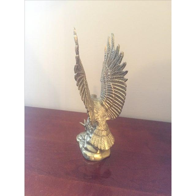 Vintage Brass Eagle Sculpture - Image 3 of 4