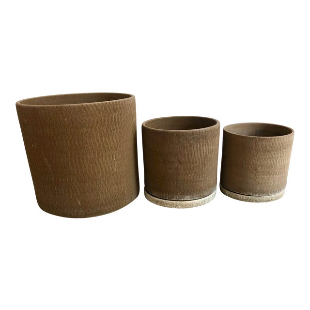 Gainey Sgraffito Pots - Set of 3 For Sale