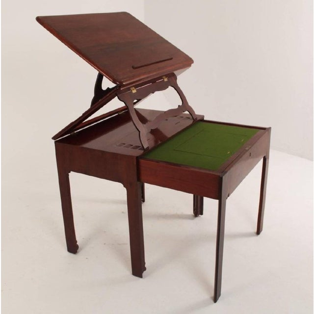 Chippendale Late 18th Century George III Chippendale Mahogany Architect's Table Desk For Sale - Image 3 of 5