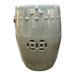 Celadon Garden Stool For Sale