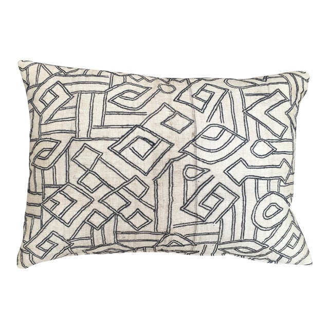 African Kuba Raffia Pillow - Image 1 of 5