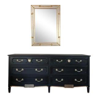 Restored Black & Gold Unagusta Dresser