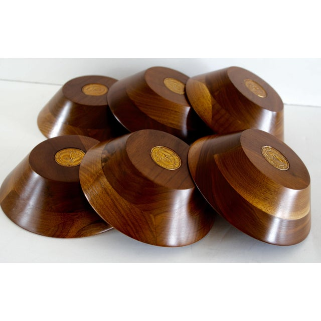 Mid-Century Walnut Salad Set - Image 4 of 8