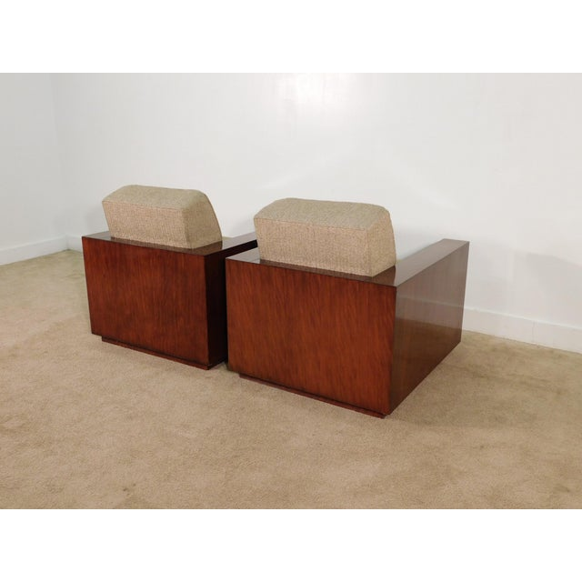 Early 21st Century Henredon Ralph Lauren Rosewood Metropolis Collection Club Tub Deck Chairs- A Pair For Sale - Image 5 of 13