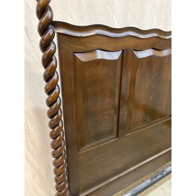 Traditional Traditional Dessin Fournir/Kerry Joyce Barley Twist Cal King Bedframe For Sale - Image 3 of 12