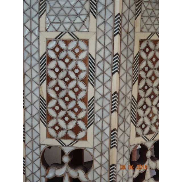 Syrian or Moroccan Mother of Pearl Inlay Side Table - Image 7 of 9