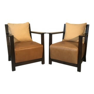 1990s Vintage Paola Navone Italian Armchairs - a Pair For Sale