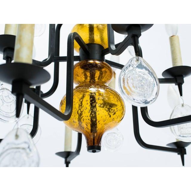 Erik Hoglund Art Glass Chandelier For Sale - Image 10 of 11