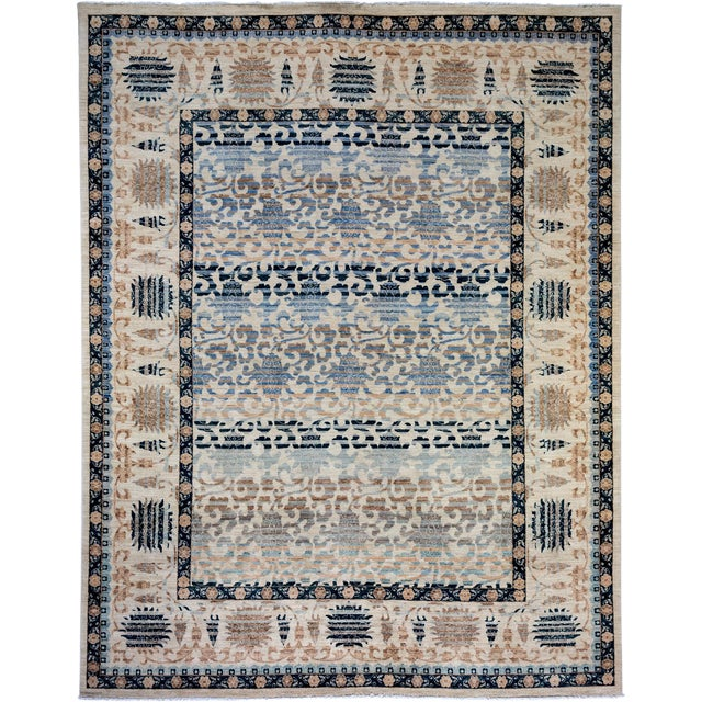 "Oushak Hand Knotted Area Rug - 8'1"" X 10'3"" For Sale"