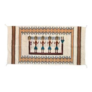 Vintage Tribal Wool Peruvian Rug - 2′7″ × 5′