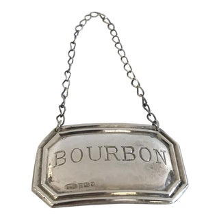 1959 Sterling 'Bourbon' Liquor Bottle Tag