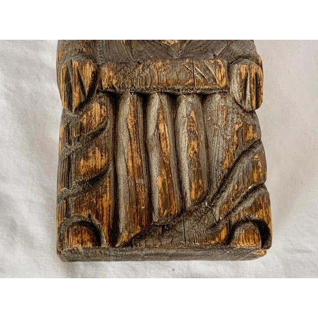 Vintage Hand Carved Wooden King Sculpture For Sale - Image 9 of 11