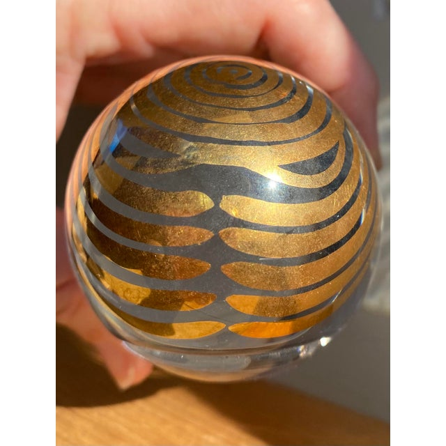 Transparent 1970s Kosta Boda Mom Paperweight For Sale - Image 8 of 9