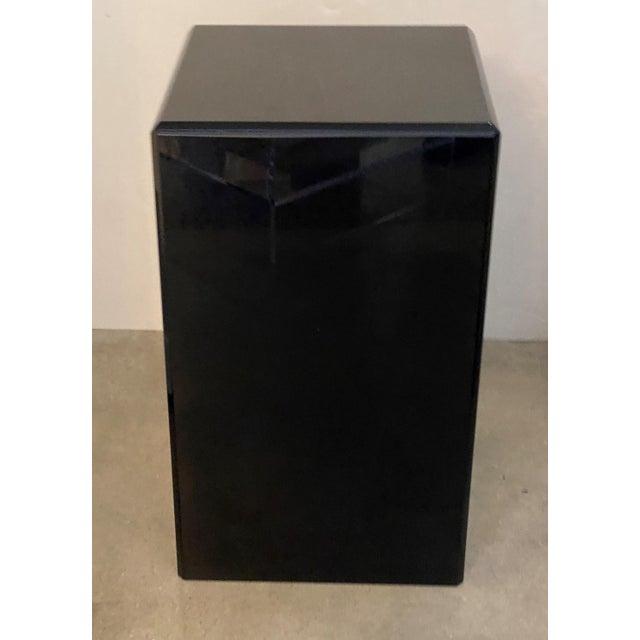 """1990s Vintage Pedestal Black Lucite 20.5"""" High For Sale - Image 5 of 8"""