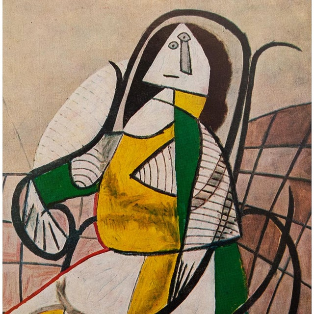 Abstract 1971 Parisian Picasso Femme Assise Dans Un Rocking Chair Photogravure For Sale - Image 3 of 8