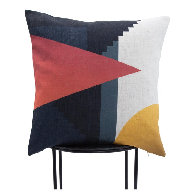 Modern Parma Single-Sided Printed Decorative Pillow For Sale - Image 3 of 4