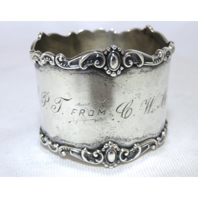 Antique Victorian Sterling Silver Napkin Ring For Sale In Boston - Image 6 of 6
