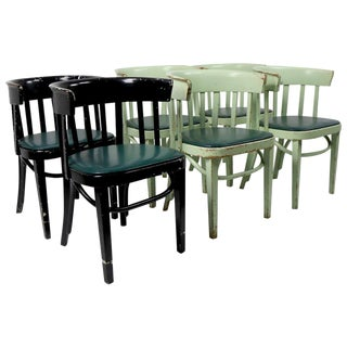 Set of 6 J J Kohn Mundus Cafe Dining Chairs For Sale