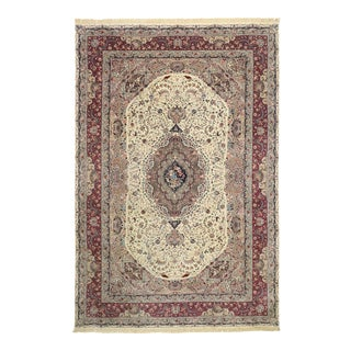 Antique Persian Pictorial Tabriz Palace Rug With Persepolis Scene - 11'11 X 17'08 For Sale