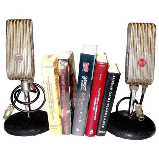 1945 RCA Vintage Broadcast Microphones As Bookends or As Sculpture. Rare and Original. For Sale
