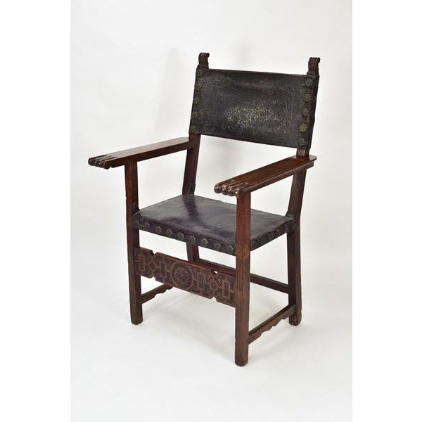 17th C. Spanish Renaissance Friar Chair For Sale - Image 13 of 13
