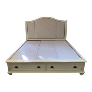 Upholstered King Storage Bed