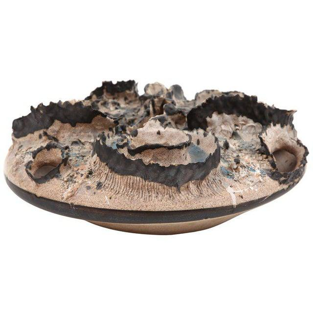 1970s Joseph Broudo 1970s Ceramic Crater Vessel For Sale - Image 5 of 5