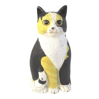 1950s Vintage Cast Iron Cat Doorstop For Sale