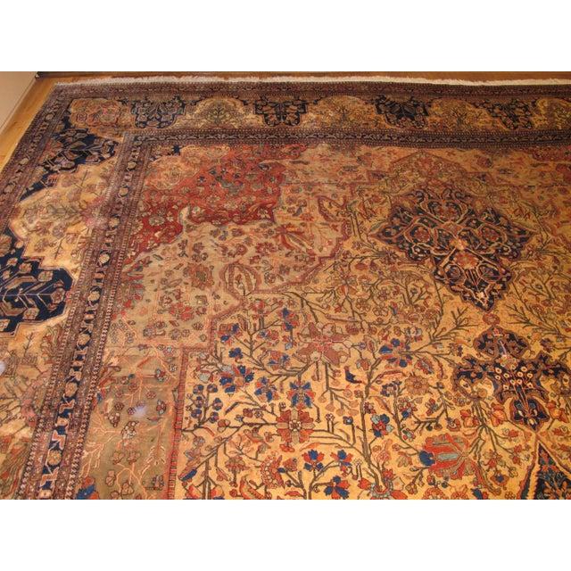 Exquisite Antique Oversize Mohtashem Kashan Carpet For Sale In Los Angeles - Image 6 of 9