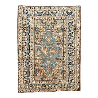Antique Light Blue Ferahan Sarouk/Sarharoon Rug For Sale