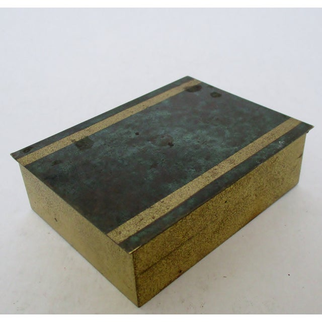 Vintage German Brass Box For Sale - Image 4 of 7