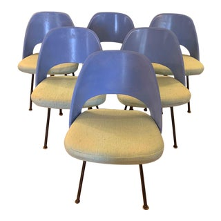 Vintage 1960's Eero Saarinen for Knoll Model 72 Dining Chairs - Set of 6 For Sale