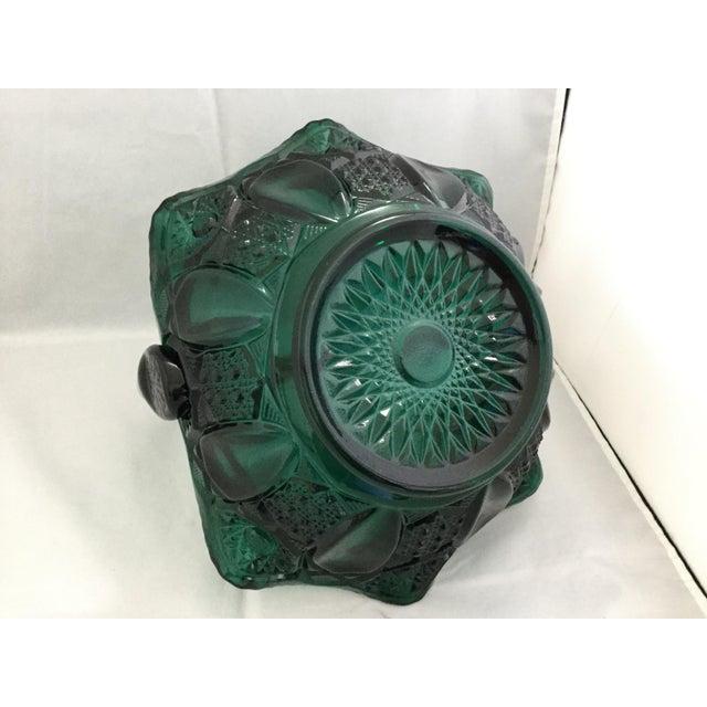 1990s Vintage Glass Wedding Basket For Sale - Image 4 of 7