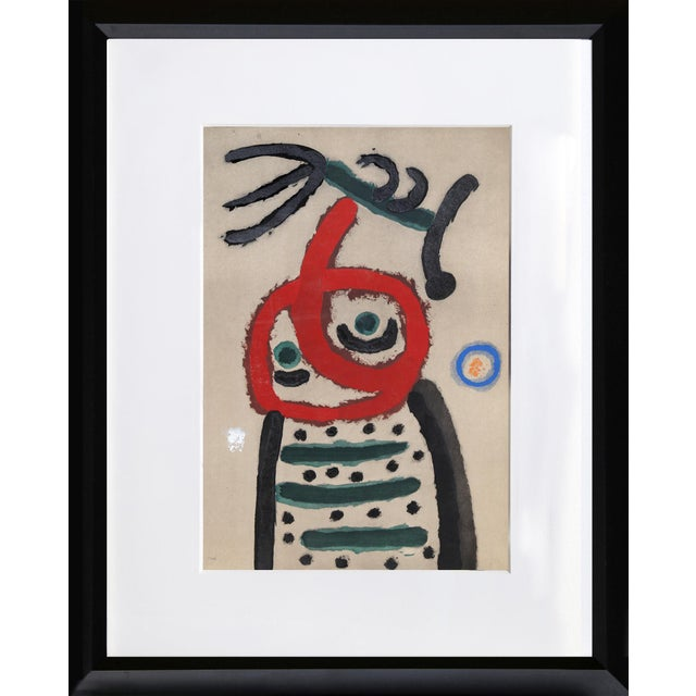 Artist: Joan Miro, After, Spanish (1893 - 1983) Title: Cartones 22: Femme et Oiseau Year: 1965 (after 1963 original)...