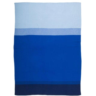Array Cashmere Blanket, Blue, Queen For Sale