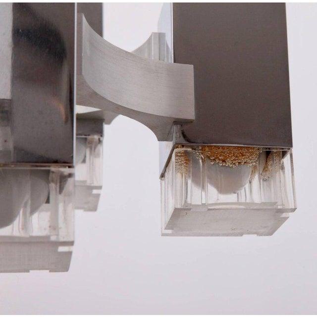"""Gaetano Sciolari Gaetano Sciolari Chrome """"Cubic"""" Chandelier For Sale - Image 4 of 8"""