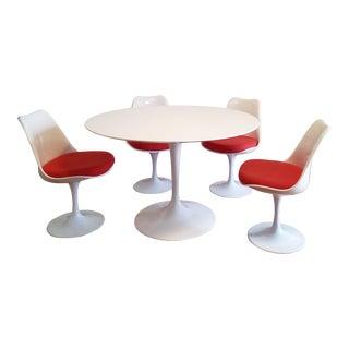 Eero Saarinen Tulip Style 5-Piece Dining Set - Set of 5