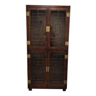 2000s Asian Henredon Scene 1 Campaign Display Case