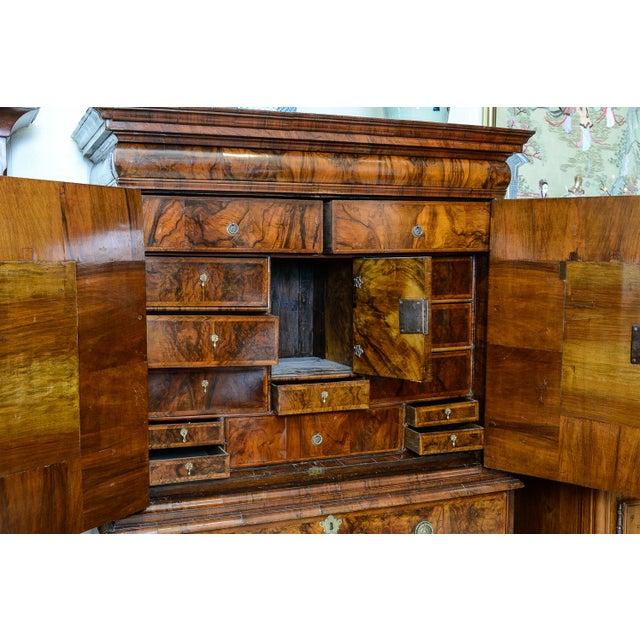 Burlwood Chest on chest For Sale - Image 7 of 11