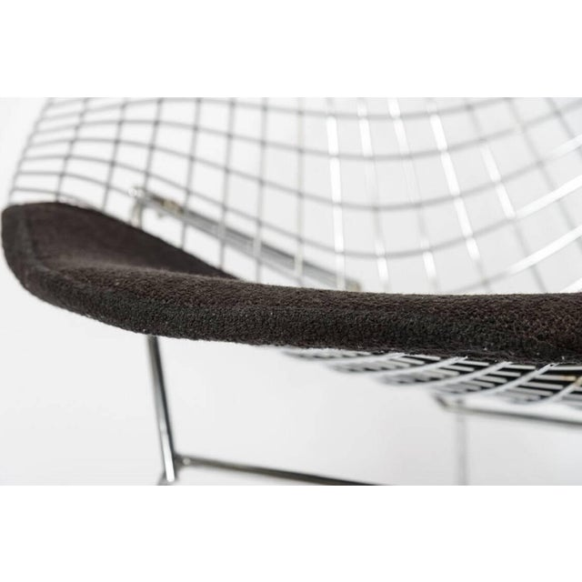 "Bertoria ""Diamond Chair"" in Polished Chrome With Black Upholstery For Sale In West Palm - Image 6 of 11"