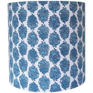 Block Print Drum Lamp Shade